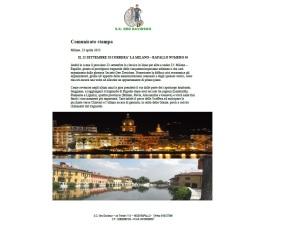 Milano Rapallo - comunicato stampa
