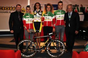 Da Sinista in Maglia Tricolore: Alessandro Bertolini, Alice Arzuffi e Manuel Todaro
