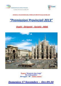 Premiazioni Provinciali 2013